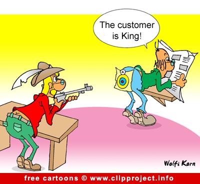 Customer is King Cartoon free - Business Cartoons for free