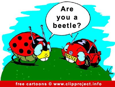 Beetle car cartoon free