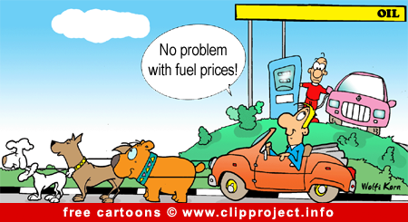 Free automotive cartoon - Fuel prices