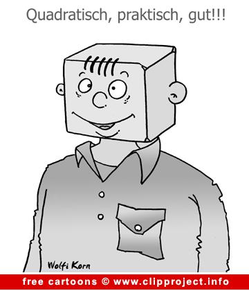 Gratis cartoon image -  quadratisch praktisch gut