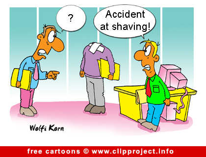 Shaving accident cartoon image free