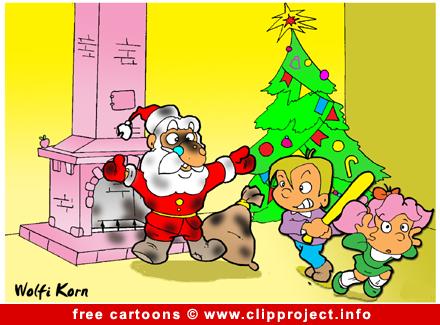 Santa Claus cartoon for free