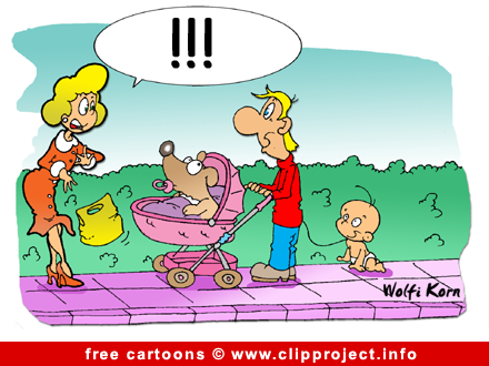 Cartoon free - Young father