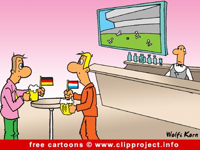 Pub cartoon - free soccer cartoons