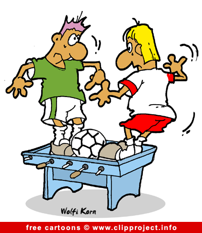 Table Soccer Cartoon Image Free