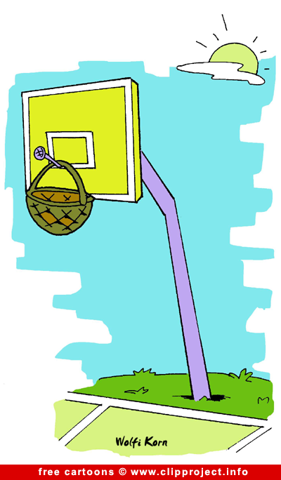 Basketball Cartoon free - Sport Cartooons for Olympic Games