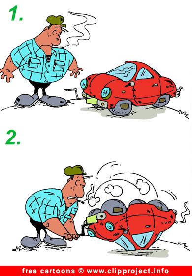Free Auto Cartoon Fuel Consumption