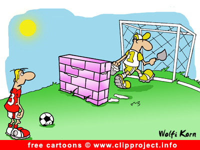 free soccer cartoon image goal keeper