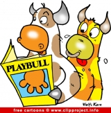 Bulls and funny magazine cartoon free