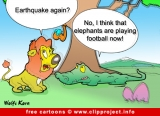 Lion and crocodile cartoon fir free