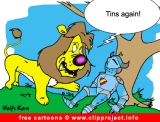 Lion and knight cartoon picture free