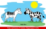 Zebras cartoon image for free