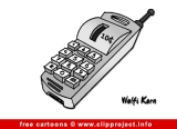 Mobile phone cartoon free