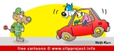 Road Police Cartoon for free
