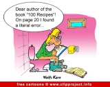 Cookbook cartoon free