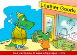 Crocodiles in shop cartoon for free - Animals cartoons