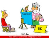 Passport cartoon free
