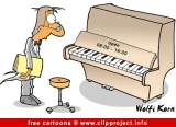 Piano cartoon - Music cartoons free