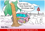 Christmas tree funny cartoon