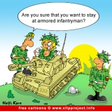 Free Army Cartoon Armored Infantryman
