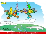 Free Cartoon image Sky Divers