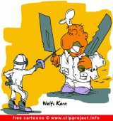 Fencing Cartoon - Free Sport Cartoons