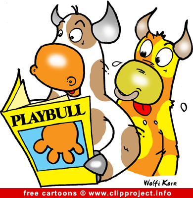 Bulls and funny magazine cartoon free