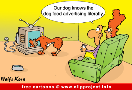 Dog food cartoon for free