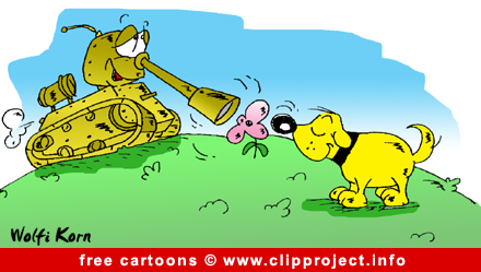 Tank and dog cartoon free