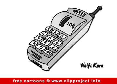 Mobile phone cartoon free
