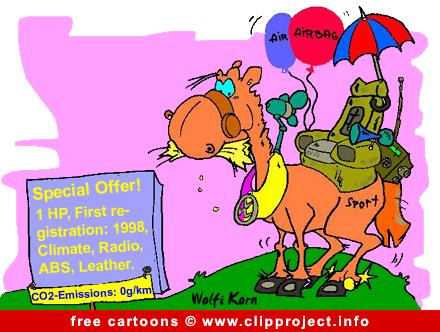 Free Car Cartoon - Horse Special offer