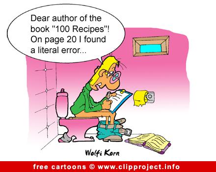 Cookbook cartoon free