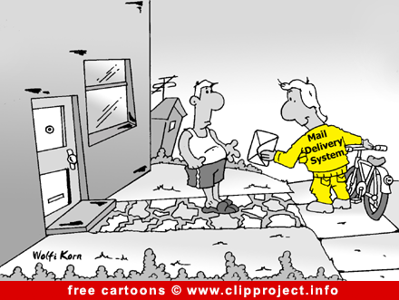 email cartoon - Free computer cartoons