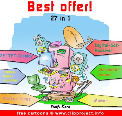 Free cartoon multifunctional fridge
