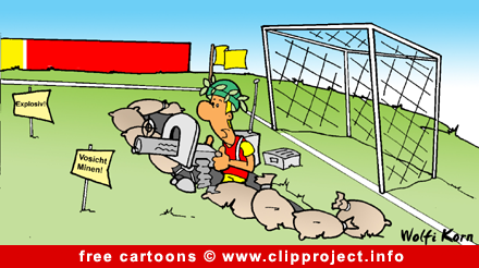Soccer cartoon image for free - goal keeper