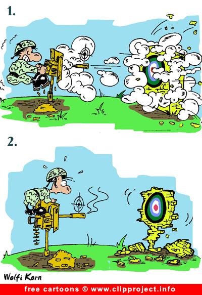 Sniper Cartoon image free - Army cartoons free