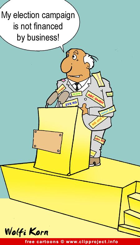 Election campaign cartoon - Politics cartoons free