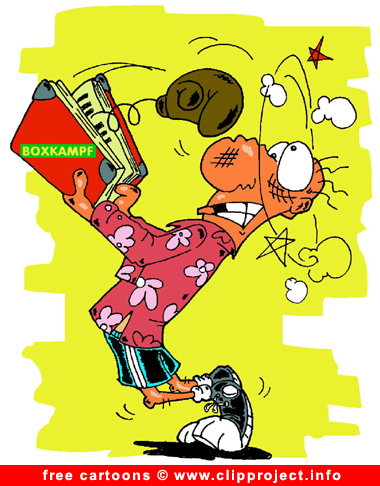 Boxing Cartoon - Sport Cartoons for free