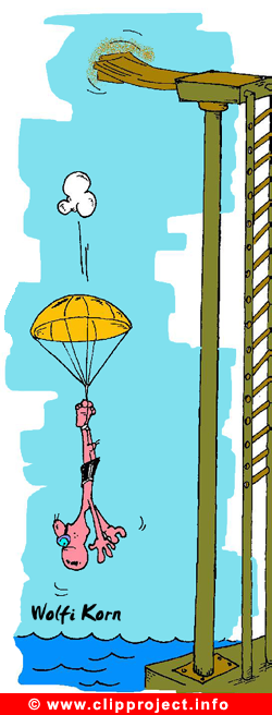 Diving Sport Cartoon for free