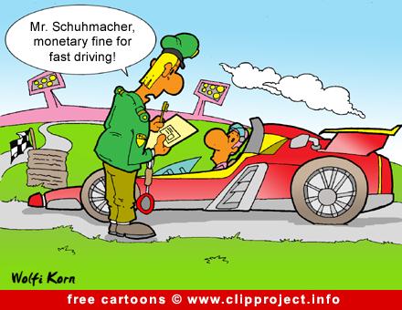 Formula 1 Cartoon - Sport Cartoon for free