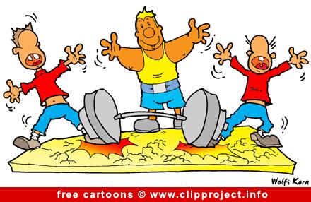 Free Sport Cartoon for Olympic Games - Heavy Athletics