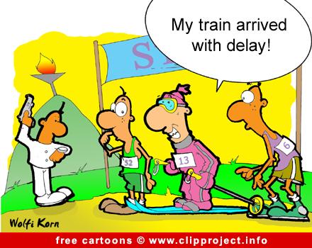 Ski Cartoon - Free Sport Cartoons