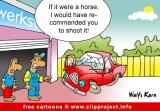 Car workshop cartoon gratis
