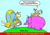 Free auto cartoon - Fuel consumption