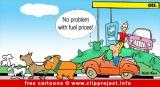 Free automotive cartoon - Fuel prices