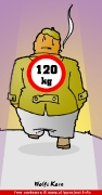 Cartoon free man 120 kg