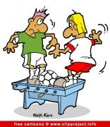 Table soccer cartoon image free