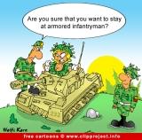 Free Army Cartoon Armored Infantryman